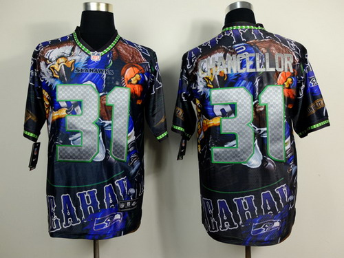 Nike Seattle Seahawks #31 Kam Chancellor 2014 Fanatic Fashion Elite Jersey
