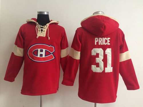 2014 Old Time Hockey Montreal Canadiens #31 Carey Price Red Hoodie