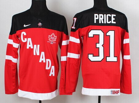 2014/15 Team Canada #31 Carey Price Red 100TH Jersey