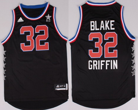 2015 NBA Western All-Stars #32 Blake Griffin Revolution 30 Swingman Black Jersey