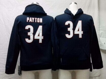 Nike Chicago Bears #34 Walter Payton Blue Kids Hoodie