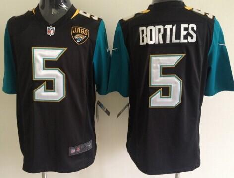 Nike Jacksonville Jaguars #5 Blake Bortles 2013 Black Game Jersey