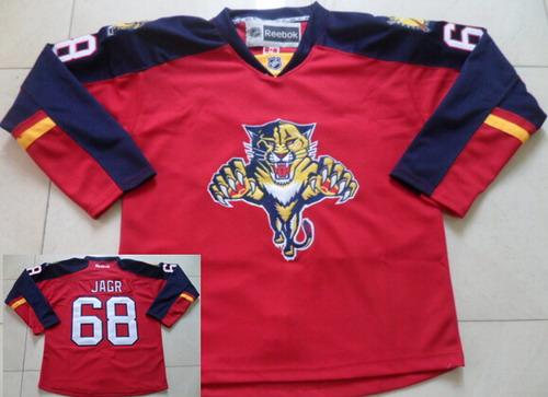 Florida Panthers #68 Jaromir Jagr Red Jersey