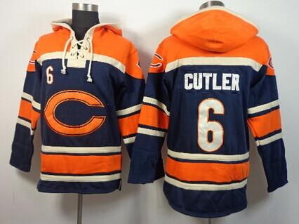 Chicago Bears #6 Jay Cutler 2014 Blue Hoodie