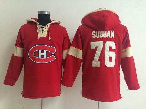 2014 Old Time Hockey Montreal Canadiens #76 P.K. Subban Red Hoodie
