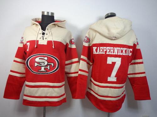 San Francisco 49ers #7 Colin Kaepernick 2014 Red Hoodie