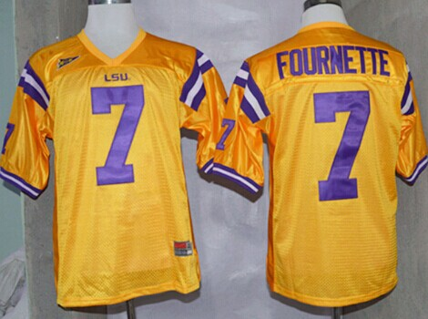 LSU Tigers #7 Leonard Fournette Yellow Jersey
