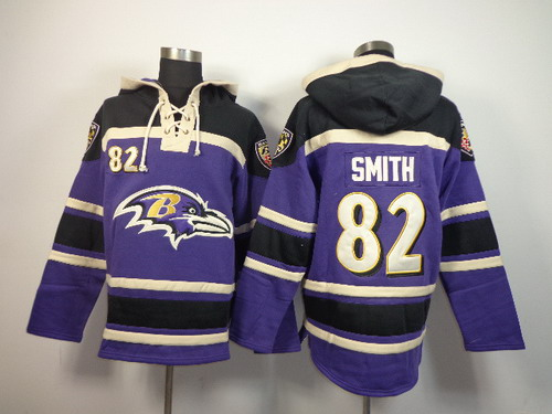 Baltimore Ravens #82 Torrey Smith 2014 Purple Hoodie