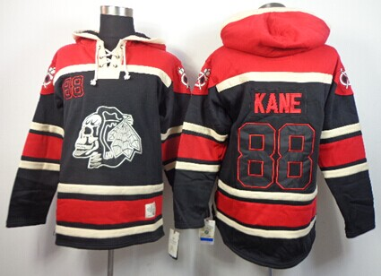 Black Hawks Skull Black//White Game Day Hockey Hoodie