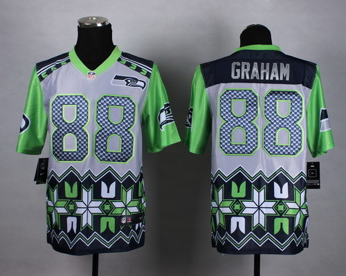 Nike Seattle Seahawks #88 Jimmy Graham 2015 Noble Fashion Elite Jersey