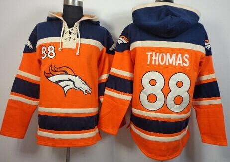 Denver Broncos #88 Demaryius Thomas 2014 Orange Hoodie