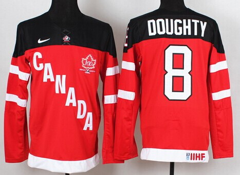 2014/15 Team Canada #8 Drew Doughty Red 100TH Jersey