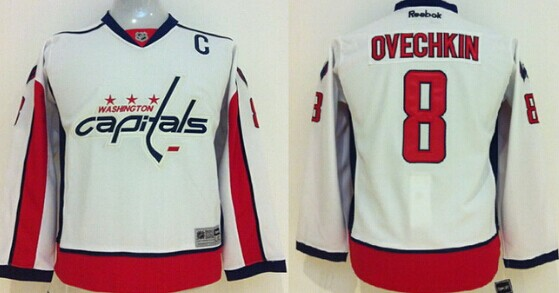 best website be746 ee237 Washington Capitals #8 Alex Ovechkin Red Kids Jersey on sale ...