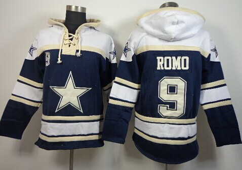 Dallas Cowboys #9 Tony Romo 2014 Blue Hoodie