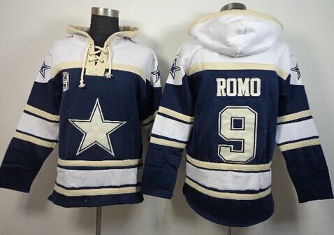 Dallas Cowboys #9 Tony Romo 2014 Blue Hoodie