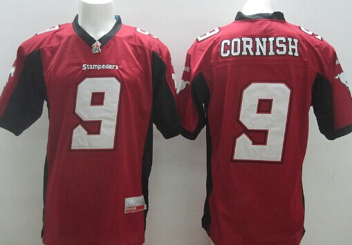 CFL Calgary Stampeders #9 Jon Cornish Red Jersey