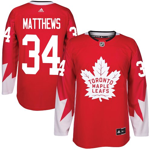 Adidas Toronto Maple Leafs #34 Auston Matthews Red Alternate Stitched Youth NHL Jersey