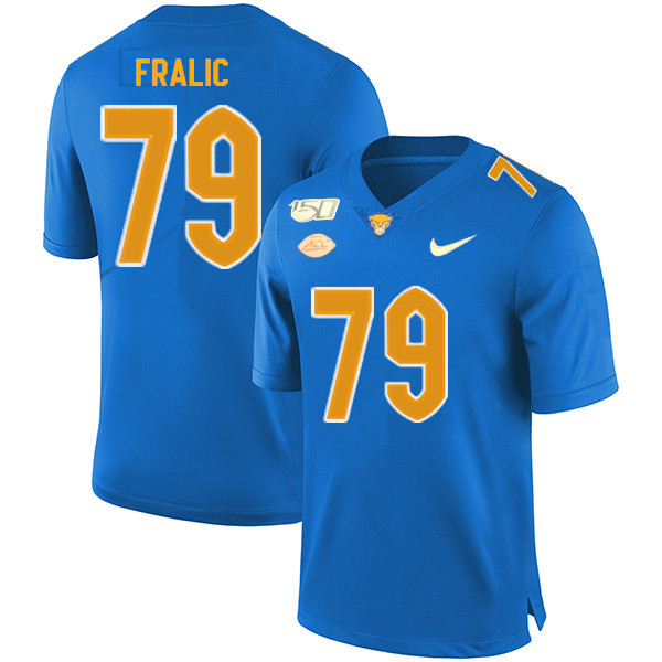 Pittsburgh Panthers 79 Bill Fralic Blue 150th Anniversary Patch Nike College Football Jersey