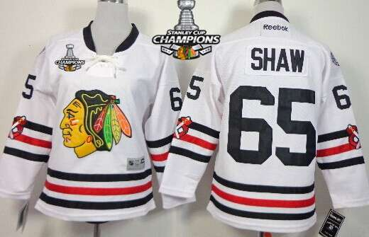chicago blackhawks 65 andrew shaw 2015 winter classic white kids jersey w 2015 stanley