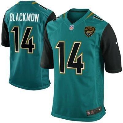 Men's Jacksonville Jaguars #14 Justin Blackmon 2013 Nike Green Game Jersey