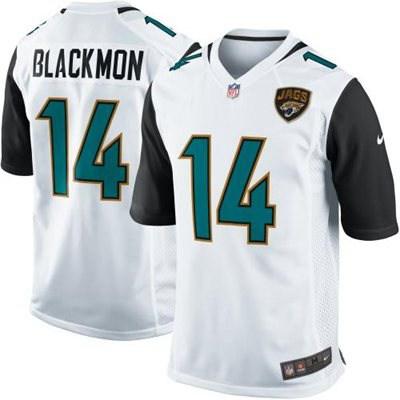 Men's Jacksonville Jaguars #14 Justin Blackmon 2013 Nike White Game Jersey