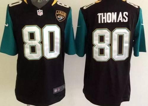 Men's Jacksonville Jaguars #80 Julius Thomas 2013 Nike Black Game Jersey