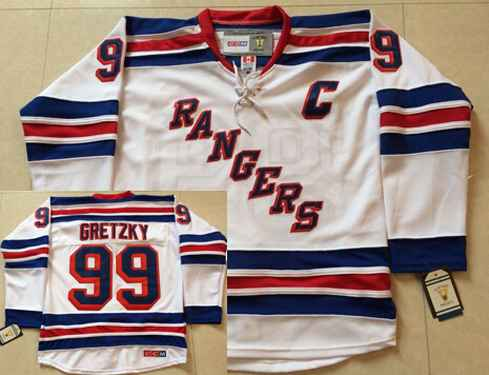 cheap for discount 1f5c7 12ea2 Men's New York Rangers #99 Wayne Gretzky 1999-00 White CCM ...
