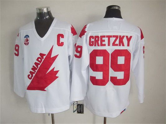 Men S Team Canada 99 Wayne Gretzky 1991 Olympic White Ccm