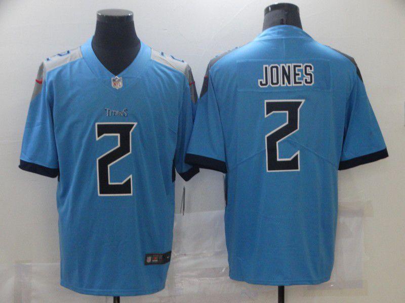 Men Tennessee Titans Julio Jones #2 Light Blue Vapor Untouchable Limited Jersey
