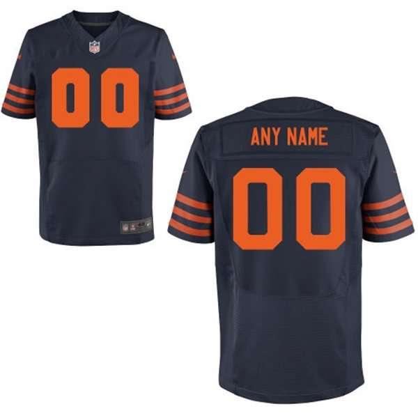 Men's Chicago Bears Nike Navy Blue Customized 2014 Alternate Elite Jersey