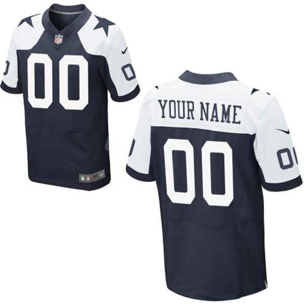 Men's Dallas Cowboys Nike Navy Blue Customized 2014 Alternate Elite Jersey