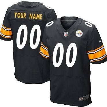 Men's Pittsburgh Steelers Nike Black Customized 2014 Elite Jersey