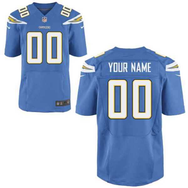 Men's San Diego Chargers Nike Light Blue Customized 2014 Elite Jersey