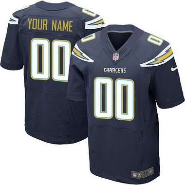Men's San Diego Chargers Nike Navy Blue Customized 2014 Elite Jersey