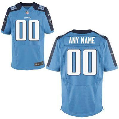 Men's Tennessee Titans Nike Light Blue Customized 2014 Elite Jersey