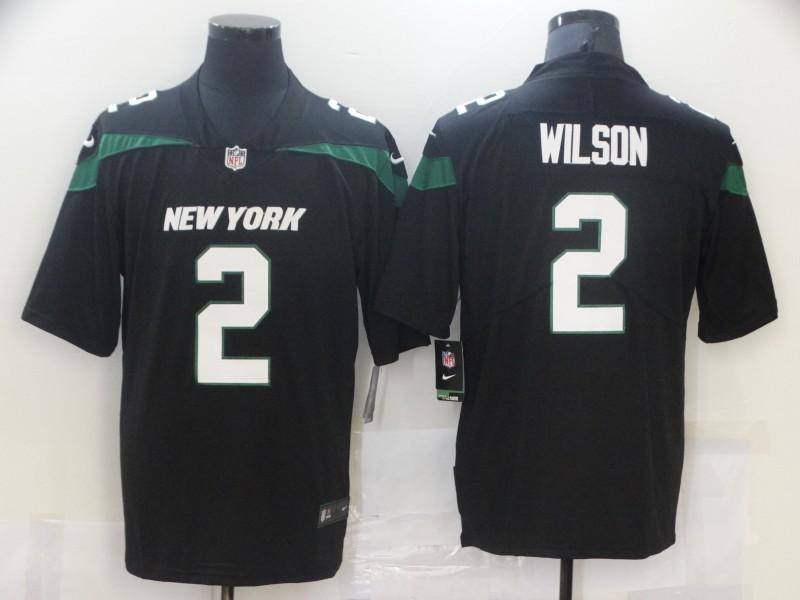 Men's New York Jets #2 Zach Wilson Black 2021 Vapor Untouchable Stitched NFL Nike Limited Jersey