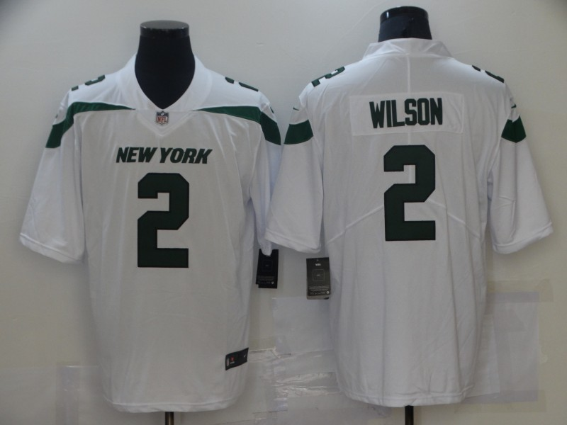 Men's New York Jets #2 Zach Wilson White 2021 Vapor Untouchable Stitched NFL Nike Limited Jersey