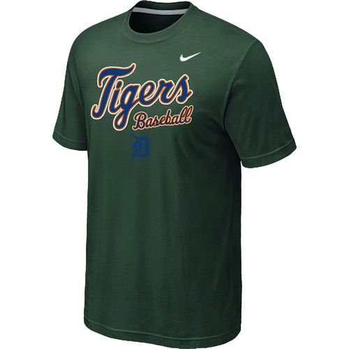 Nike MLB Detroit Tigers 2014 Home Practice T-Shirt - Dark Green