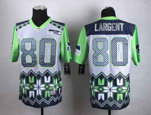 Nike Seattle Seahawks #80 Steve Largent 2015 Noble Fashion Elite Jersey
