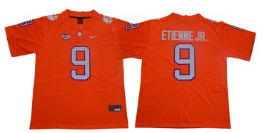 Men's Nike Clemson Tigers #9 Travis Etienne Jr Orange Team Color 2019 New Limited Football Jersey