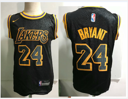 Los Angeles Lakers #24 Kobe Bryant Black Toddlers Jersey