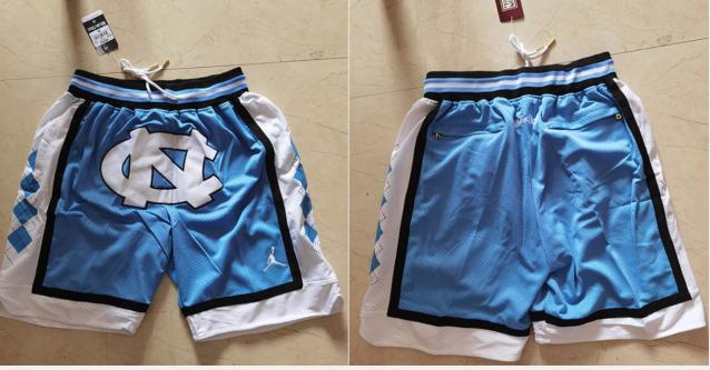 North Carolina Tar Heels Blue Just Don With Pocket Swingman Shorts