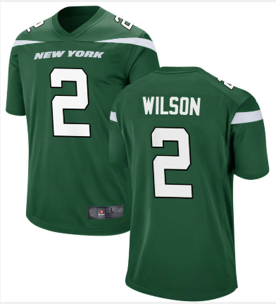 Men New York Jets #2 Zach Wilson Jersey Green 2021 Game Football