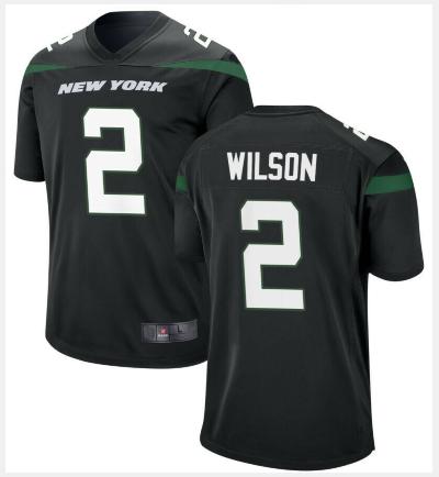 Men New York Jets #2 Zach Wilson Jersey Black 2021 Game Football