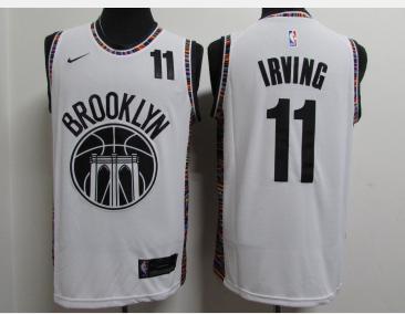 Nets 11 Kyrie Irving White 2020-2021 City Edition Nike Swingman Jersey