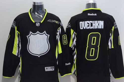 Team Foligno Washington Capitals #8 Alex Ovechkin 2015 All-Star Black Jersey