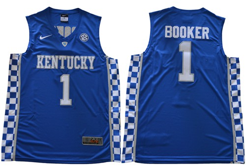 Wildcats #1 Devin Booker Royal Blue Basketball Elite Stitched NCAA Jersey