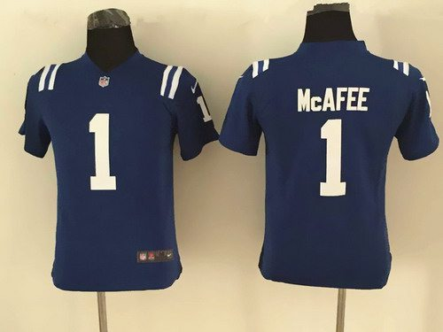 Youth Indianapolis Colts #1 Pat McAfee Nike Blue Game Jersey