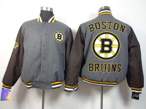 Boston Bruins Blank Gray Jacket