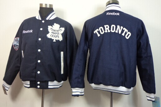 Toronto Maple Leafs Blank Navy Blue Jacket